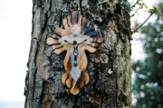 Wooden cross with Jesus