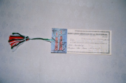 "Cheque for ""365 days of Happiness"" from the Latin-American Bank of Prosperity"