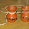 Two empty jars filled with fruits of the Holy Spirit