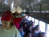Once in a week we took a bus to get to town. Verry crowded bus...