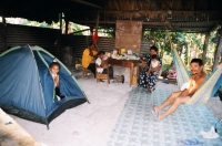 in Fernando's house; our old tent we gave to them