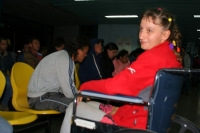 my great blue wheelchair in Cartago hospital after the attack