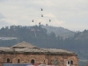 450 years Cuenca celebration starts with helicopter acrobatic over the cities roofs