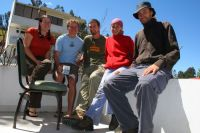 Naoma, 2 x Ben, and us in Checa during an accidental history meeting of hitchhikers