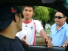 Rolando, our driver, talking to some volunteers