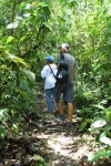 Jose Luis leading us a jungle like trail up another mountain