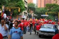 Uh! Ah! Chavez no se va! - that is what people in favor for Chavez are shouting during street demonstrations