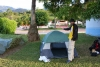 lazy to find out about camping in the city, thus staying in a nearby parque