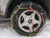 didn\'t put snow chains on their wheels
