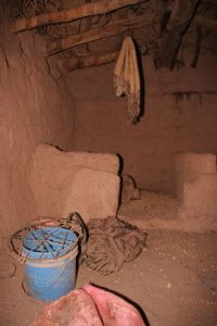 here goats were kept together with humans; it seems having been something like a kitchen