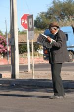 in Huara you read newspapers in the middle of the road