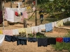 drying hand-washed clothes