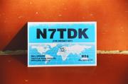 Post Card with an amateur radio call sign (QSL Card)