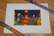 "Painting print ""Full Moon over the Village"" by John Hay"