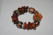 Bracelet made of Gum tree pods and dried beans* by Aboriginal