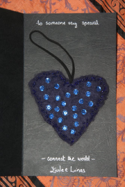 A hand-made, woolen heart