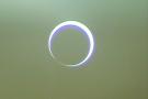 Žiedinis Saulės užtemimas pietų Indijoje