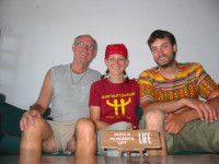 Together with our host Donovan in Playa del Carmen