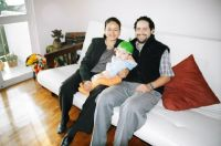 Esthel, Mateo and Rodrigo - our first and longest Servas hosts in Mexico City
