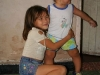 Daniela with her cousin