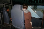 and finally the first ride in a bus, which was part of a heavy accident and on repair trip straight to Cuenca!