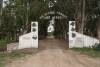 the entrance to the camping near La Dulce town