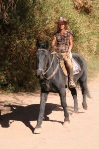 Stephanie riding gracefully