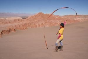 artistic body work above Death Valley
